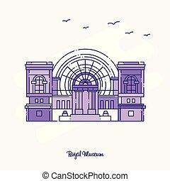 ROYAL MUSEUM Landmark Purple Dotted Line skyline vector illustration