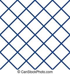 Royal Navy Blue Grid White Christmas Chess Board Diamond ...
