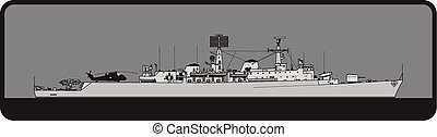 Royal Navy. County-class guided missile destroyer - Modern ...