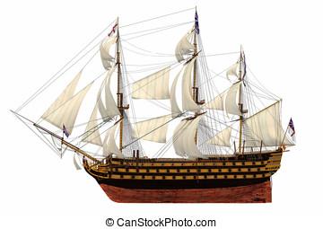 Royal Navy Flagship Tall Ship - Royal Navy flagship HMS...