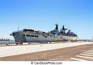 HMS Bulwark - Royal Navy Military ship the HMS Bulwark in...
