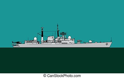 Royal Navy Type 42 Batch III guided missile destroyer. Navy ...