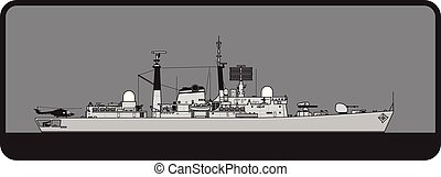 Royal Navy. Type 42 Sheffield class guided missile destroyer...
