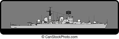 Royal Navy. Type 82 Bristol-class guided missile destroyer...