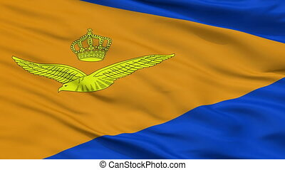 Royal Netherlands Air Force Flag Closeup Seamless Loop -...
