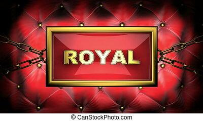 royal  on velvet background