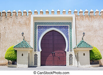 Royal Palace gate in Morocco.