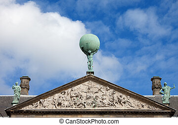 Royal Palace in Amsterdam Architectural Details - Royal...
