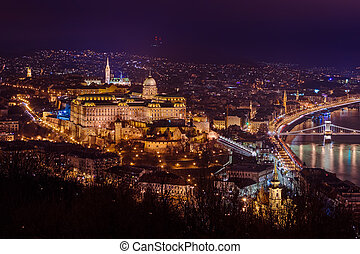 Royal palace in Budapest Hungary - cityscape architecture...
