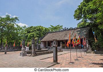 Royal palace in Hanoi Vietnam