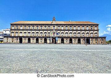 Royal Palace in Naples, Piazza del Plebiscito, Italy