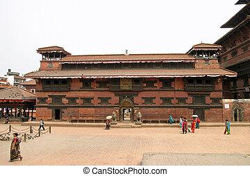 Royal palace in Patan, Nepal