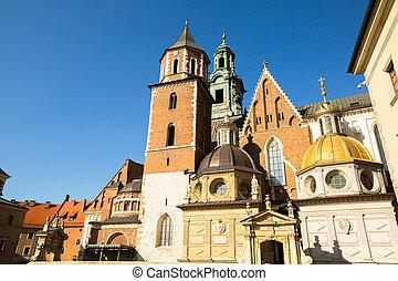 Royal palace in Wawel, Krakow, Poland.