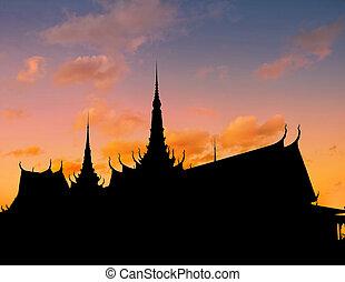 Royal Palace sunset