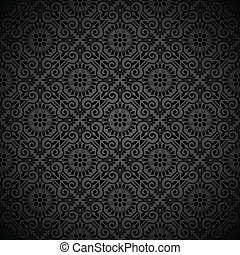 royal, papier peint, noir, seamless