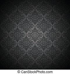 royal, papier peint, noir