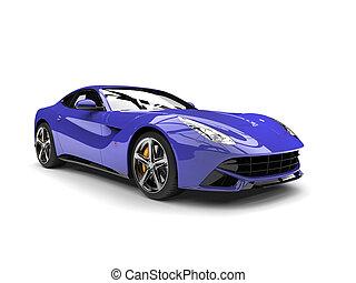 Royal purple modern fast sports concept car