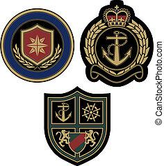 royal sailor emblem design