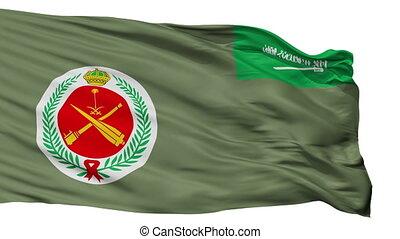 Royal Saudi Air Defense Forces Flag Isolated Seamless Loop -...