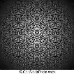 Royal Seamless Black Wallpaper