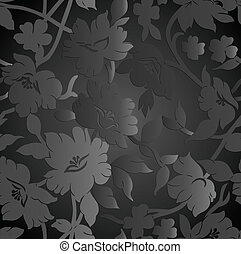 Royal seamless floral background