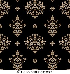 Royal seamless pattern baroque. Vintage ornamental...