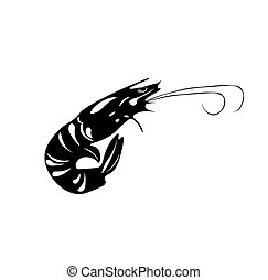 Royal Shrimp. Sushi. Japanese food. isolated. on White Vector