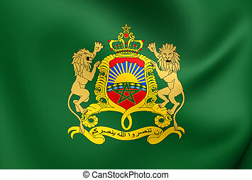 Royal Standard of Morocco. Close Up.