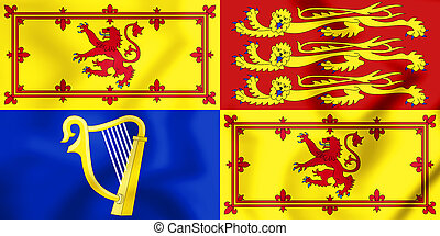 Royal Standard of the United Kingdom_(in Scotland)_(variant...