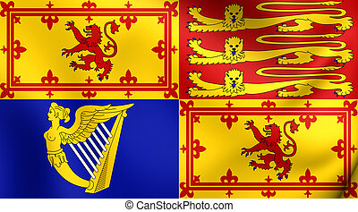 Royal Standard of United Kingdom in Scotland