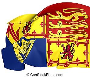 Royal Standard of United Kingdom (Scotland)