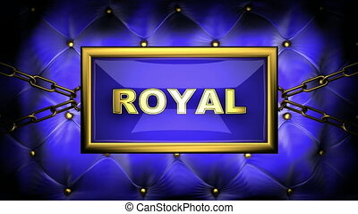 royal on velvet background