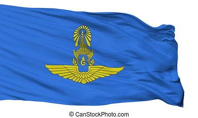 Royal Thai Air Force Flag Isolated Seamless Loop - Royal...