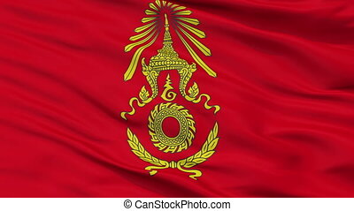 Royal Thai Army Flag Closeup Seamless Loop - Royal Thai Army...