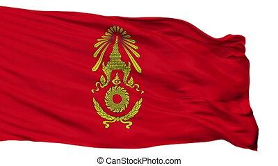 Royal Thai Army Flag Isolated Seamless Loop - The Royal Thai...