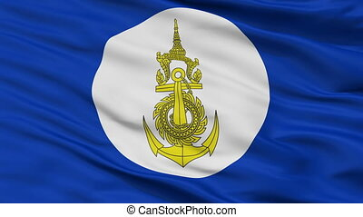 Royal Thai Navy Flag Closeup Seamless Loop - Royal Thai Navy...