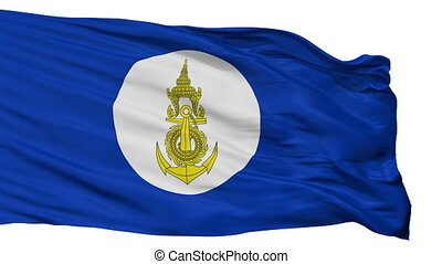 Royal Thai Navy Flag Isolated Seamless Loop - Royal Thai...