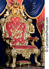 royal throne in a room