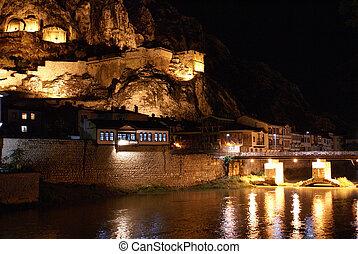 Royal tomb at night