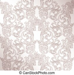 Royal victorian pattern ornament. Vector Rich rococo ...