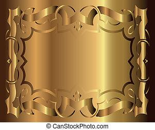 Royal Vintage Frame Vector Gold