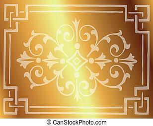 Royal Vintage Frame Vector Golden