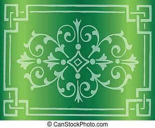 Royal Vintage Frame Vector Green
