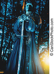 royal zombie knight - Zombie warrior in knightly armor...