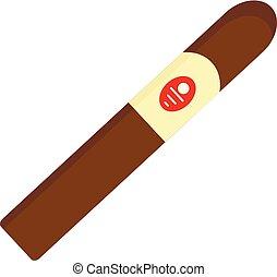 Royale cigar of cuba icon. Flat illustration of royale cigar of cuba vector icon for web design