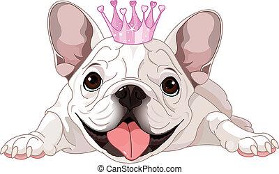 Royalty bulldog - Illustration of royalty bulldog with crown...