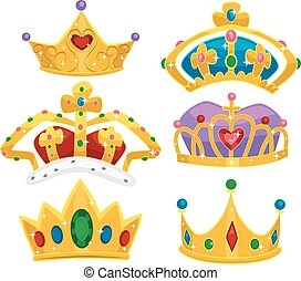 Royalty Crowns Elements Illustration