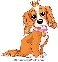 Royalty dog - Cavalier King Charles Spaniel with crown