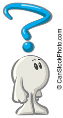 Royalty-free clipart picture of a white konkee character...