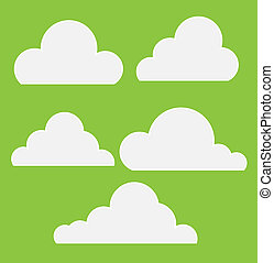 Royalty Free Clouds Vector - Drawing Art of Cartoon Comic...